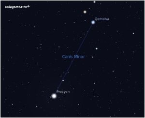 canis-minor in sky-map