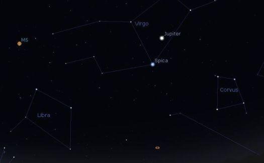 Northern Hemisphere Constellations with Planet Jupiter