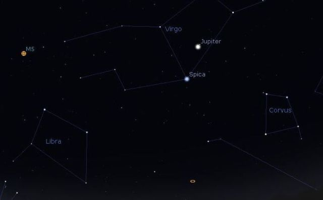 Northern Hemisphere Constellations with Planet Jupiter