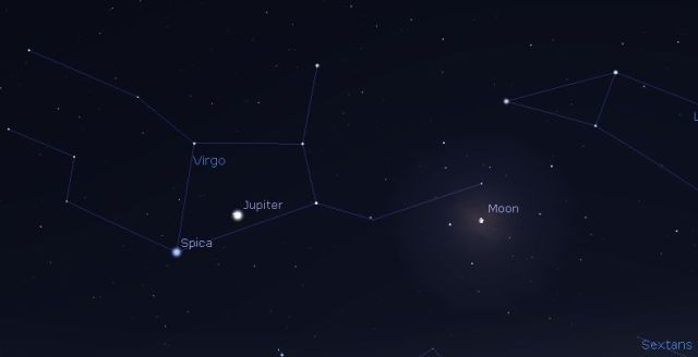 a screenshot from Stellarium.